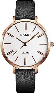 SKMEI Women Waterproof Watch, Wrist Watch for Lady Girls Dress Casual Analog Quartz Watches for Women (Black)