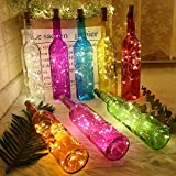 20 LED 2M FlaschenLicht Weinflasche Lichter korken Form 10 Pack Kupferdraht für Party Weihnachten Halloween Hochzeit - 3