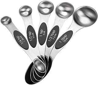 Apilable Para Medir Ingredientes Secos O H/úmedos Juego De 4 Cucharas Medidoras De Cocina Tama/ños Acero Inoxidable Y Polipropileno /½ Cucharadita 1 Cucharadita /½ Cucharada 1 Cucharada