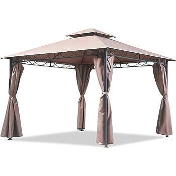 FDW Canopy Tent Gazebo 10' X 13' Grill Gazebo for Patios BBQ Outdoor Patio Large Garden Top Gazebo with Sidewall Party Tent