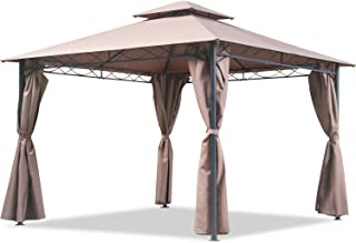 Canopy Tent Gazebo 10' X 13' Grill Gazebo for Patios BBQ Outdoor Patio Large Garden Top Gazebo with Sidewall Party Tent