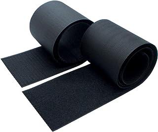 Furupa 手芸用の幅広強力面ファスナー 幅10cm×1m 黒 裁縫用 サバゲー オスメスセット
