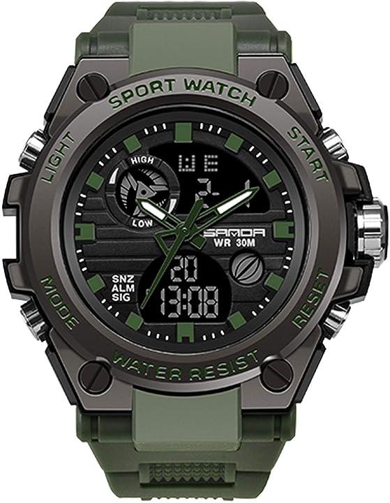 Orologio militare rorios digitale orologio sportivo impermeabile con sveglia cronometro all`aria aperta AA-MJ003