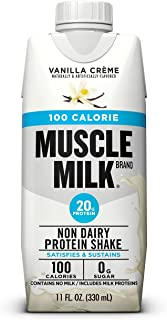 Muscle Milk 100 Calorie Protein Shake, 20 Grams Protein, Vanilla Creme, 12 Count