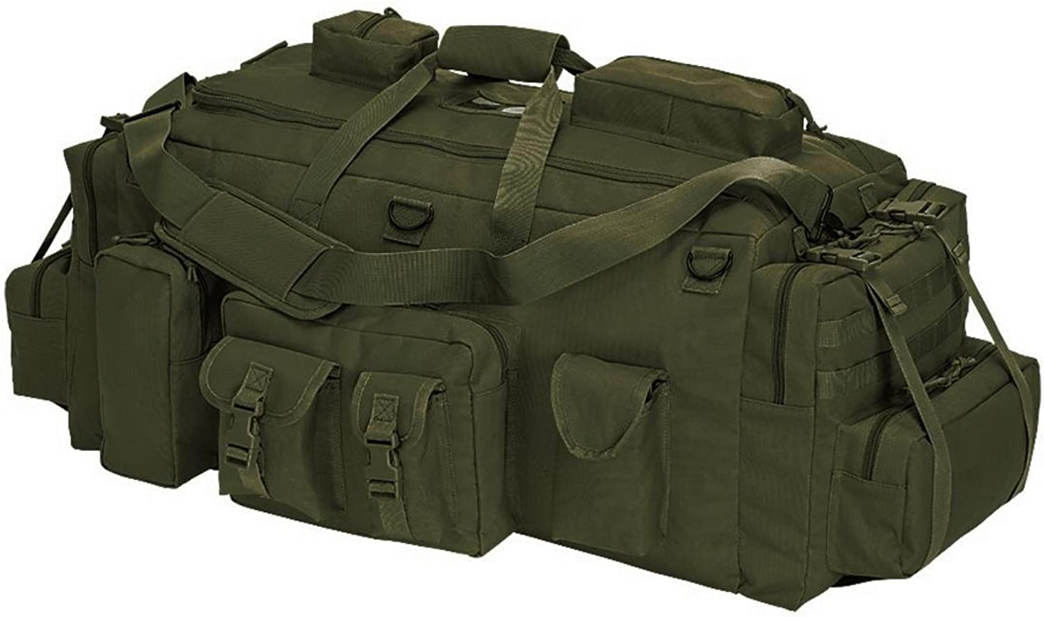 VooDoo Tactical 159685004000 Mojo LoadOut Bag with Backpack Straps, Olive Drab
