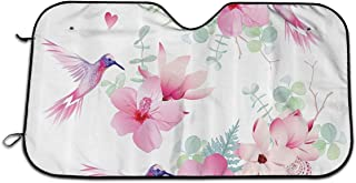 MAPTEC Tropical Flowers and Hummingbirds are Wild Windshield Sun Shade - Foldable Car Front Window Sunshades for Most Sedans SUV Truck Reflective Material Blocks 99% UV Rays Vehicle Cool?