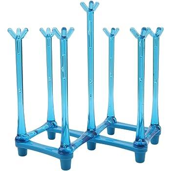 BEE&BLUE カップスタンド グラスホルダー 乾燥ラック 折りたたみ式 コップホルダー カップ排水プラスチック ストレッチスタイル ボトル 収納ラック 乾燥 スタンド ラック 軽量 立て ホーム キッチン用品