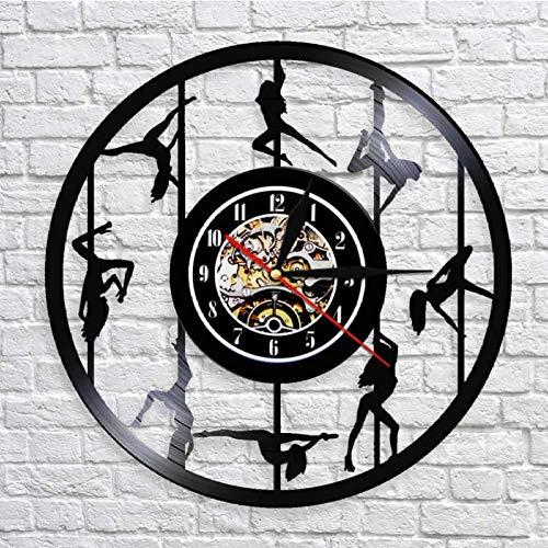 WYJIE Vinyl Record Clock Independence Day Geschenk Wanduhr Sterne Streifen Flagge Form Antike Moderne Usa Uhr