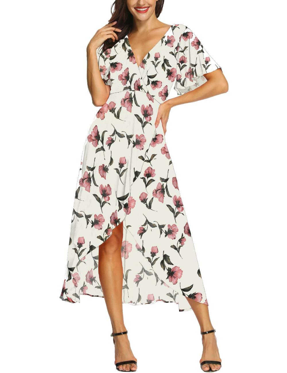 Azalosie Wrap Maxi Dress Short Sleeve V Buy Online In Bahamas At Desertcart
