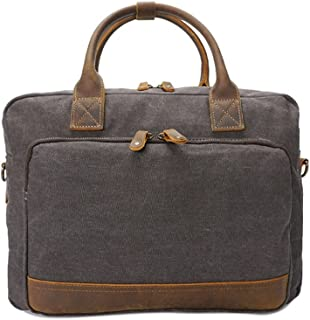 AJZGF Business Briefcase Black Leather Business Briefcase 13 Notebook Tote Strap Crossbody Messenger Bag Casual Tote