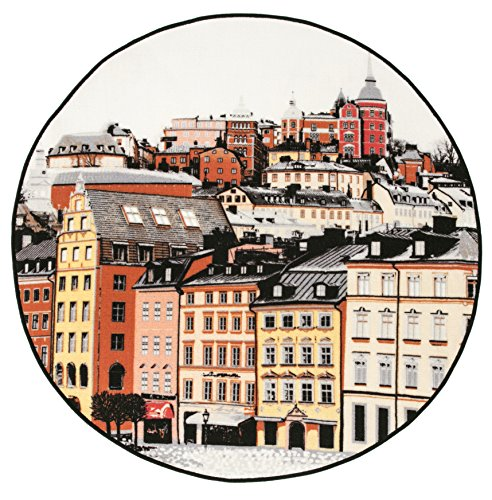 Vallila Stockholm Teppich, Polyamid, Mehrfarbig, 100 x 100 cm