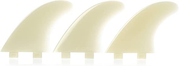 FCS M7 Natural Glass Flex Tri Set Fin Large Large