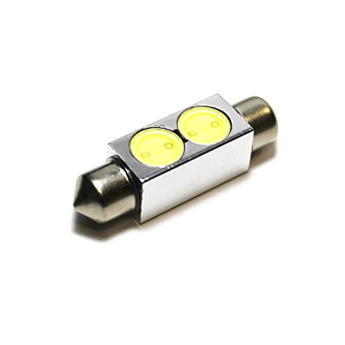 2x Jaguar S-Type Bright Xenon White Superlux LED Number Plate Light Bulbs