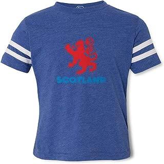 Scotland Crewneck Boys-Girls Cotton/Polyester Football T-Shirt
