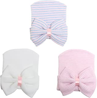 COUXILY Baby Hat 6 Pezzi Neonato Elastico Avvolgere la Testa Avvolgere Infantile Turbante Bambino Neonato Ragazza Fascia