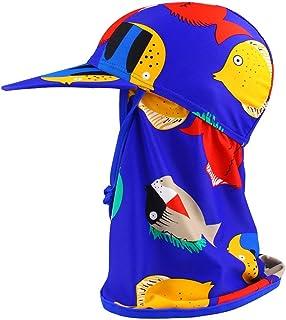 AILITI 子供向け 水着日焼け予防UVカット帽子 フラップキャップ帽子 ベビー キッズ