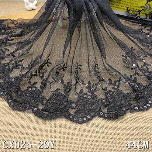 1 yard Beige Bloem Borduurwerk Kant Stof Jurk Applique Blouse Naaien Trims DIY Halslijn Kraag Kostuum Decoratie Accessori