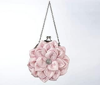"Lillian Rose 7"" Pink Flower Purse"