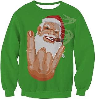 Womens Unisex Ugly Christmas Crewneck Sweatshirt Novelty 3D Graphic Sweater Shirt