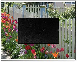 CafePress Tulips Along White Picket Fence Decorative 8x10 Picture Frame