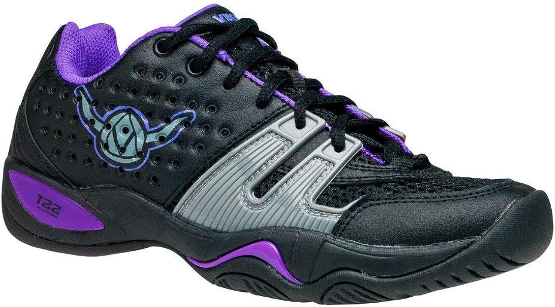VIKINGBRANDS Viking T22 Women's Platform Tennis shoes, Black Purple