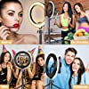 SYOSIN LED Ring Light with Extendable Tripod Stand,8''LED Selfie Ring Light& Phone Holder with 3 Color Modes and 10 Brightness for Tiktok,Youtube Video,Makeup,Photography,Live Streaming #5