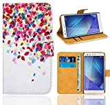 Huawei Honor 7 Handy Tasche, FoneExpert® Wallet Hülle Flip Cover Hüllen Etui Ledertasche Lederhülle Premium Schutzhülle für Huawei Honor 7 (Pattern 1)