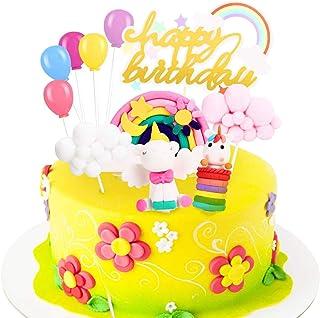 comprar comparacion Decoracion Tarta Unicornio, Familybox Decoraciones de Pasteles Unicorn Cake Topper para la Fiesta de Bienvenida bebé cumpl...
