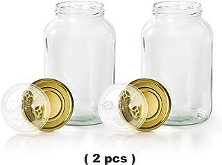 myFERMENTS Pack de 2 Tarros de Cristal Grandes con Tapa (4.