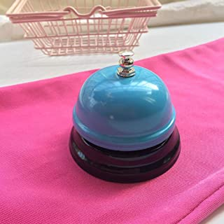 Hot Sale!DEESEE(TM)🌸🌸Hotel Counter Desk Bell Ring Metal Reception Restaurant Kitchen Bar Service Call (E)