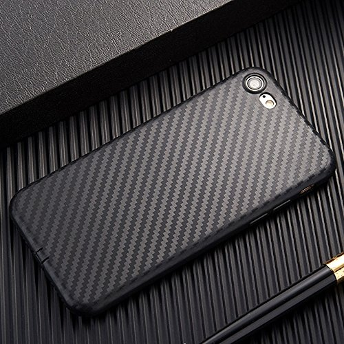 """PE for Apple iPhone 6s iPhone 6 Slim Carbon Fiber TPU Soft Phone Back Case Cover Skin (Black for iPhone 6s 6 4.7"""")"""