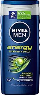 Nivea Men Energy verzorgende douchegel (250 ml), vitaliserende en voedende douchegel met muntextract, verfrissende douche ...