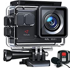 Victure Action Camera AC700 4K 30fps/20MP EIS Sports...