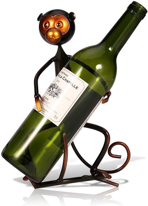 Over item handling ☆ Wine Rack Metal Very popular Monkey Shape Home Deskt