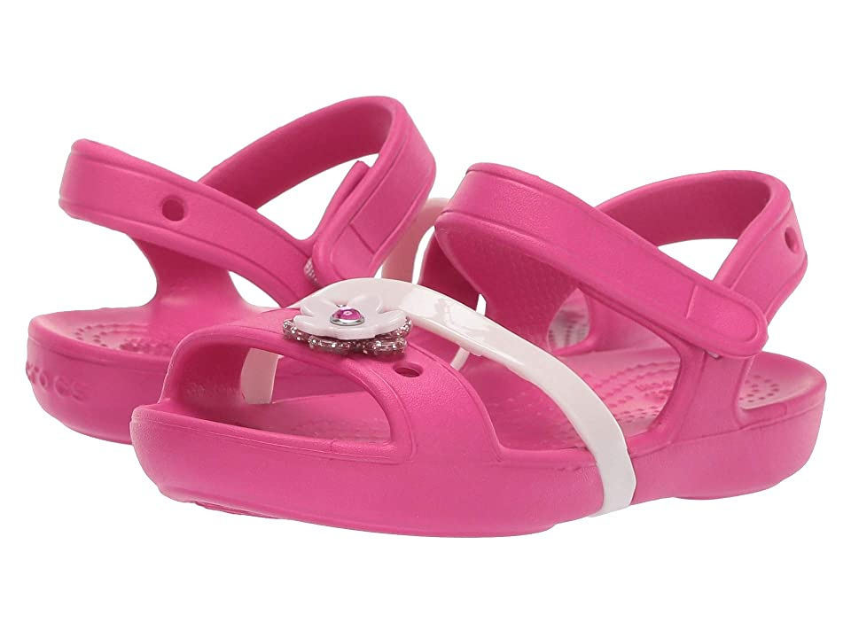Crocs Kids Lina Charm Sandal (Toddler/Little Kid) (Candy Pink) Girls Shoes