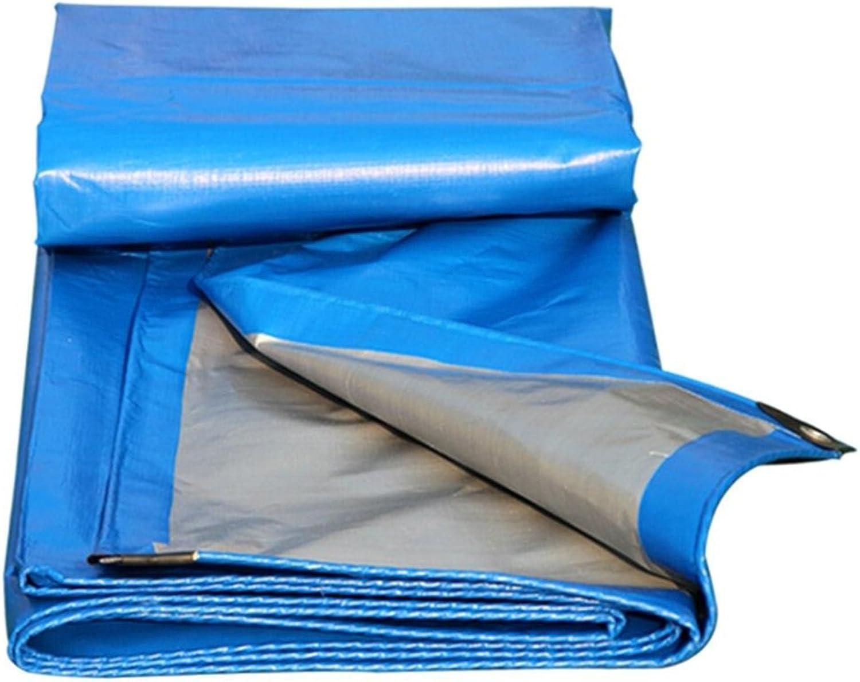 Regenschutz Wasserdicht Plane, Pet-Starke Pet-Starke Pet-Starke Wasserdichte dauerhafte LKW-Plane des Sonnenschutzes, Hochtemperaturanti-Altern, Blau  Silber (Farbe   A, Größe   3 x 3m) B07FPDLZQP  Ein Gleichgewicht zwischen Zähigkeit und Härte 654e0b