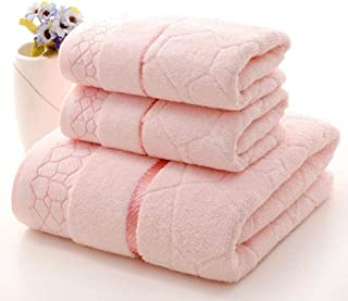 Bath Towel Set 100% Cotton Textured Towel Luxurious Fabric Solid Colors Super Soft Highly Absorbent for Bathroom Spa Hotel...
