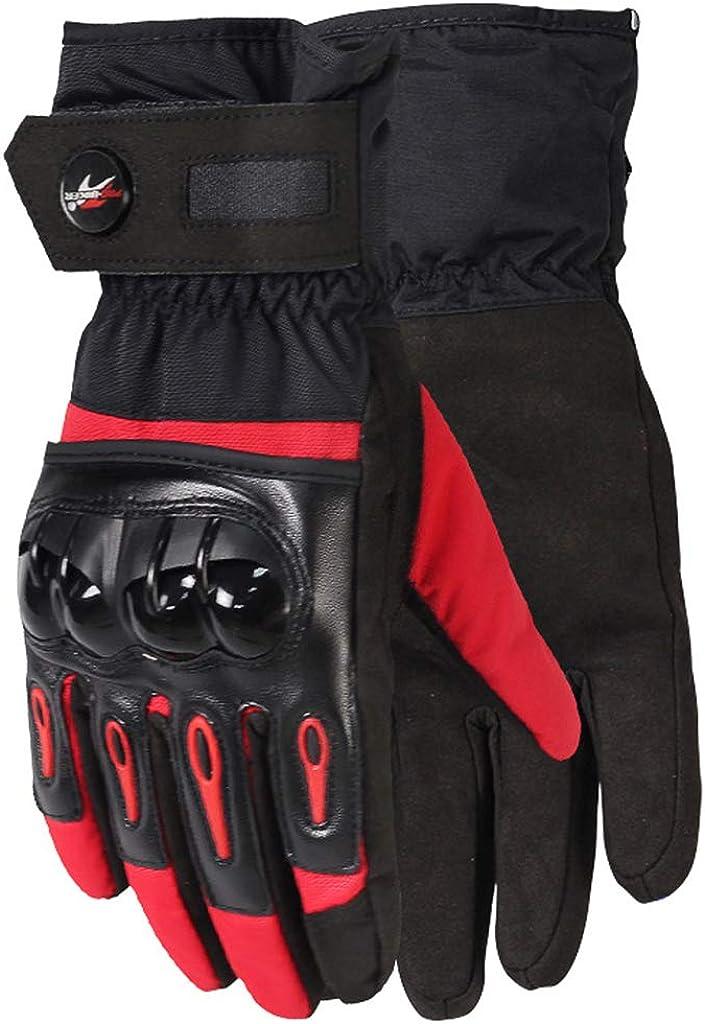 Men Waterproof Ski Gloves Outdoor Hard Knuckle Warm Motorbike Gloves Anti-Slip