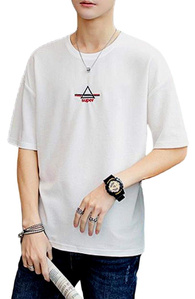 進化マーキー汚い[アルトコロニー] ワンポイント カットソー ロゴ ティーシャツ スポーツ 半そで ユッタリ カジュアル 綿 M ~ XL メンズ