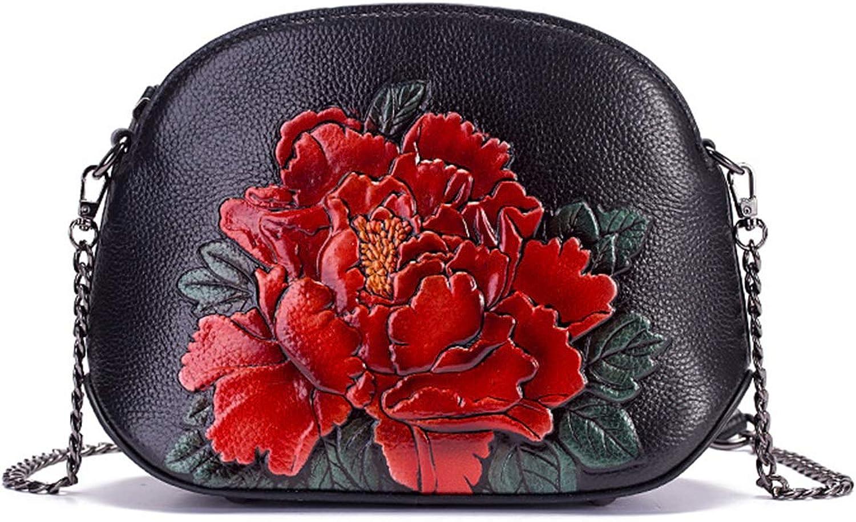 KERVINZHANG Frauen Vintage Leder Designer Floral Handtaschen Top Griff Griff Griff Satchel Crossbody Handtaschen für Reise Arbeit (Farbe   rot) B07K1YBHKM  Überlegene Materialauswahl 0b481d
