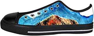 Custom Mountains and Hills Womens Classic High Top Canvas Shoes Fashion Sneaker