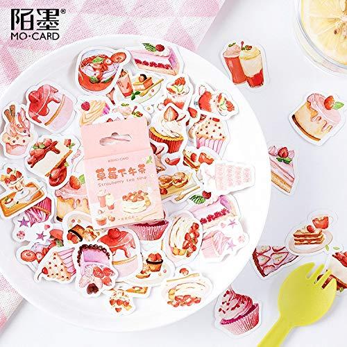 Creative Strawberry afternoon tea Mini Decorative Kawaii Cute Stickers Scrapbooking Flakes Journal Stationary Deco