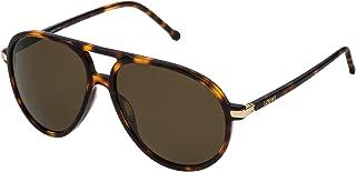 Loewe - SLW972M56748P Gafas de sol, Matte Dark Havana/Orange, 56 para Mujer