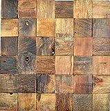 Holz Mosaik boot Old Wood Holz FSC Wand Küche Bad Fliesenspiegel|WB160-23|1Matte