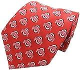 NCAA Men's Ohio State Buckeyes Repeating Primary Necktie, Scarlet/Grey