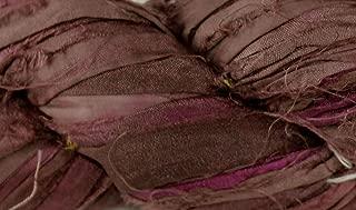 Recycled Sari Silk Ribbon- Fair Trade- Coffee- 100g Skein