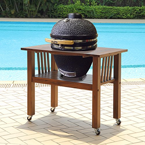 Duluth Forge 140066 18 Inch Table-Brown Spice kamado Grill, 21 Inch