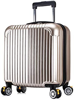LWSH Luggage Trolley Trolley Case Caster 18 Inch Travel Hard Case Female Suitcase Luggage Mini Suitcase Black Gold Rose Gold And Silver Pink (anti-scratch) (Color : Gold, Size : 18 inches)