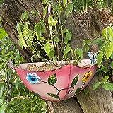BAODI Art Pot de Fleurs en Fer forgé Parapluie Fleur Pot de Fleur Mur Suspendue Vase Maison Salon Jardin Jardin Autocollant Mural décoration Murale (Color : Pink)