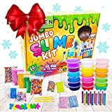 Zen Laboratory DIY Slime Kit Toy for Kids Girls Boys Ages 5-12, Glow in The Dark Glitter Slime Making Kit - Slime Supplies w/ Foam Beads Balls, 18 Mystery Box Containers Filled Crystal Powder Slime